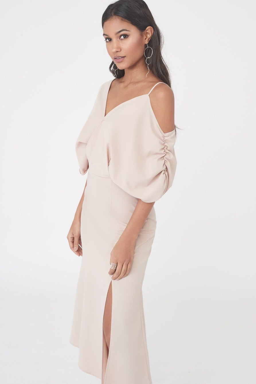 Asymmetric Off the Shoulder Dress