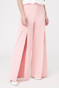 Front Split Wide Leg Trousers
