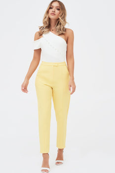 Tailored Trousers In Yellow