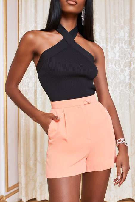 Tailored Shorts in Cantaloupe