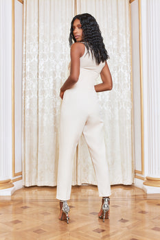 High Waist Corset Trouser in Champagne