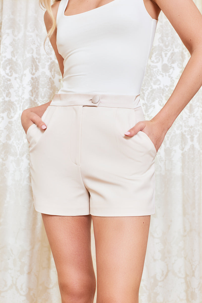 Pre-Order Satin Shorts in Champagne
