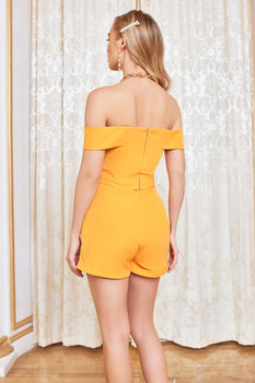 Bardot Underwired Playsuit in Orange