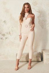 High Neck Jumpsuit in Champagne