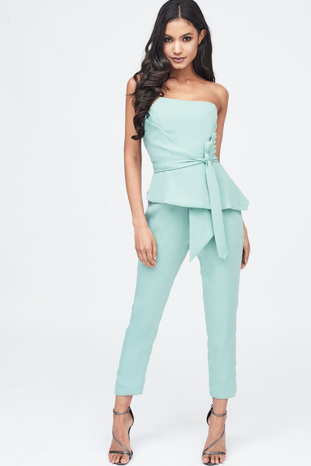 Origami Folded Jumpsuit in Sage