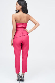 Origami Folded Jumpsuit in Fuchsia Pink