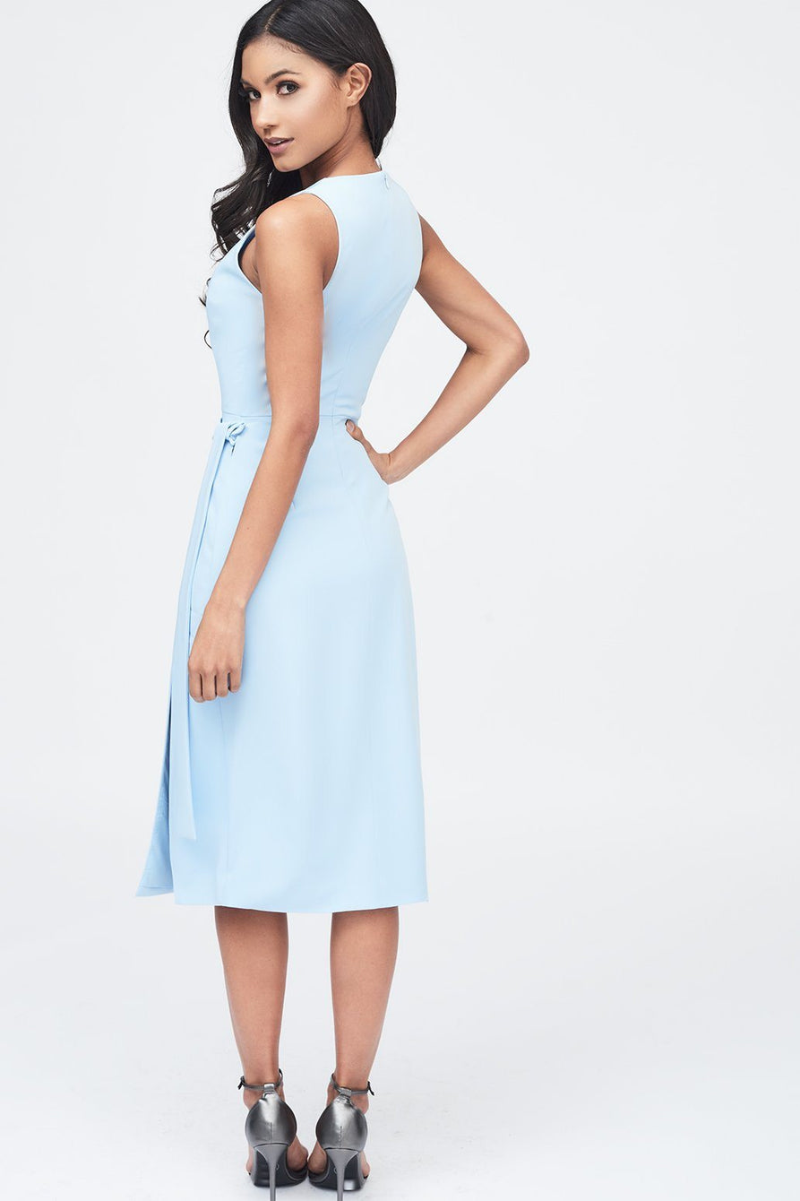 Storm Flap Midi Dress in Cornflower Blue