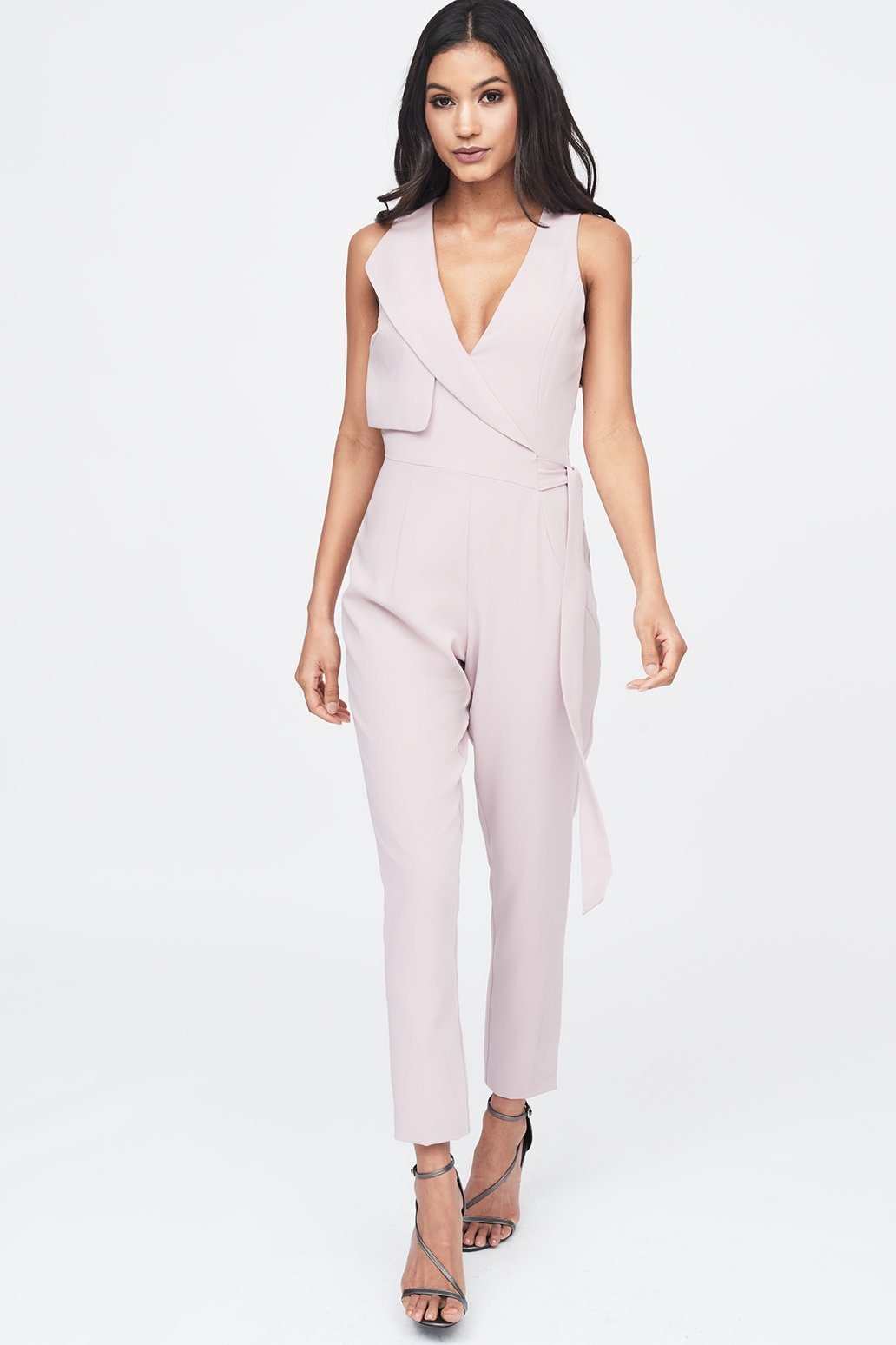 Storm Flap Jumpsuit in Nude