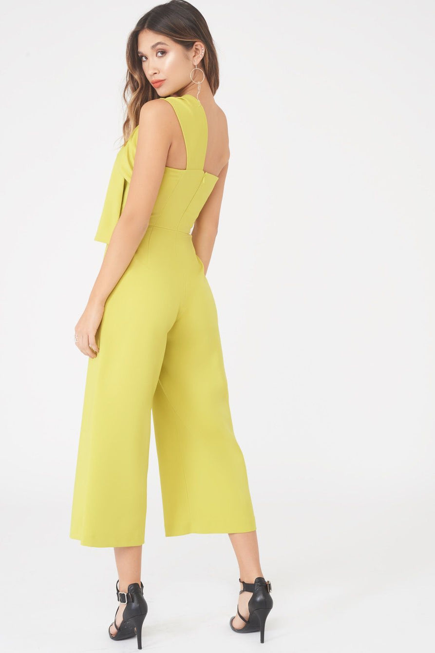 311f566e581b Twisted One Shoulder Wide Leg Culotte Jumpsuit – Lavish Alice