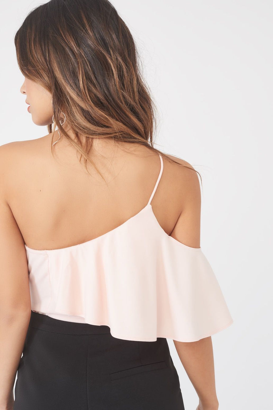Asymmetric One Shoulder Panelled Bodysuit