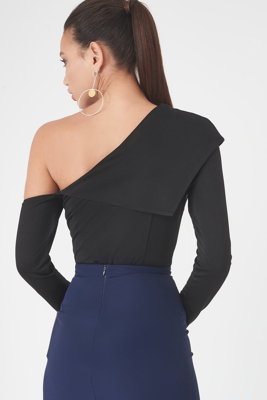 Shoulder Fold Over Bodysuit