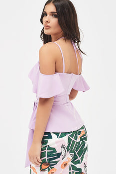 Strappy Neck Top in Lilac