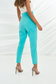 Tailored Trousers in Aqua