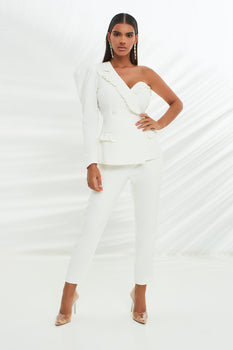 Tailored Trousers in White