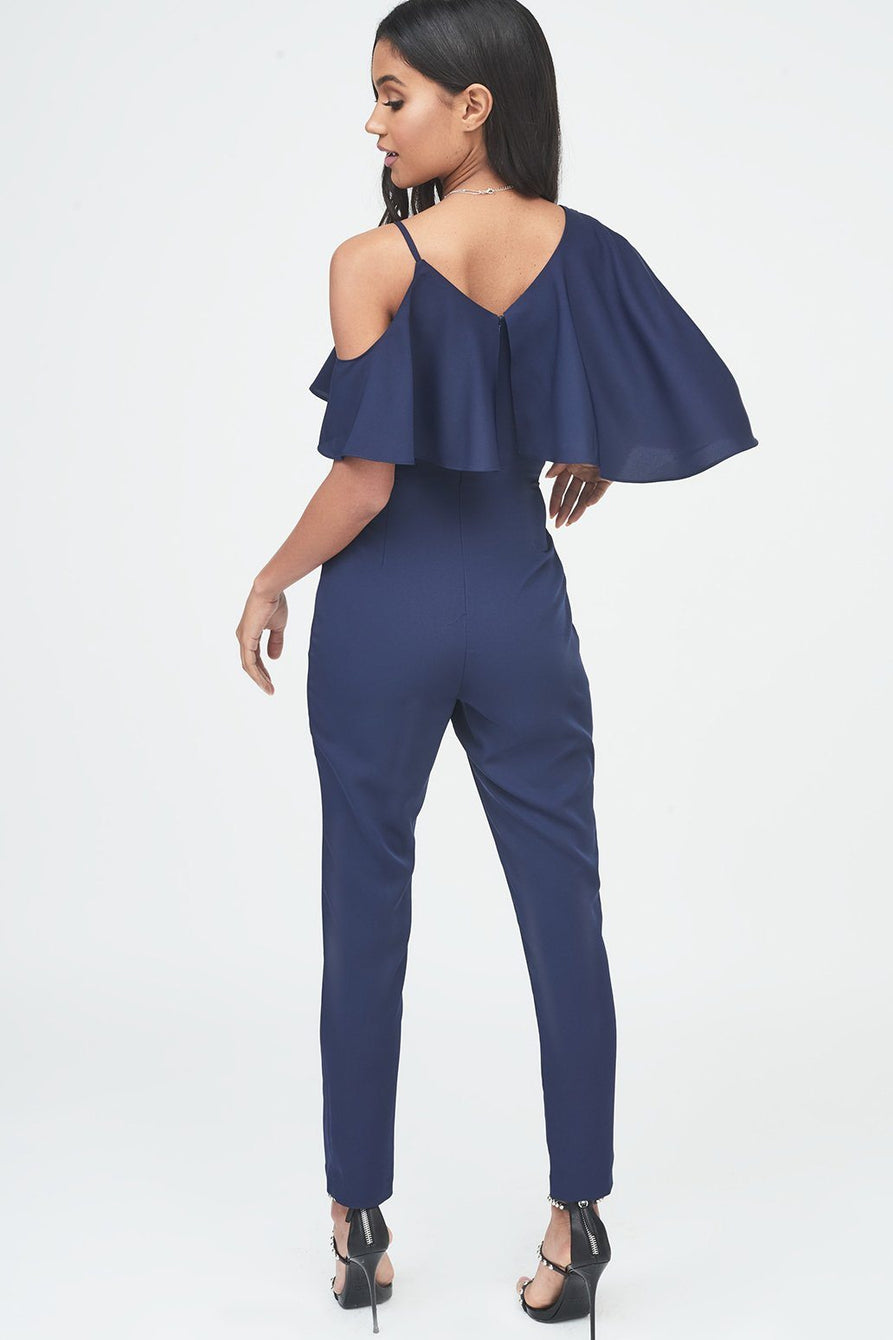a6440fe8a3d Asymmetric Off The Shoulder Tapered Jumpsuit in Navy – Lavish Alice