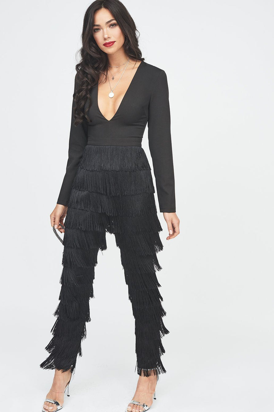 25e88a786df4 Fringe Jumpsuit in Black – Lavish Alice