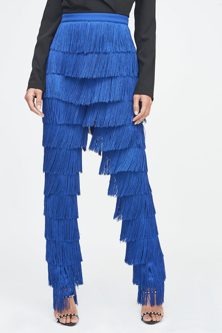 Fringe Trouser in Cobalt Blue