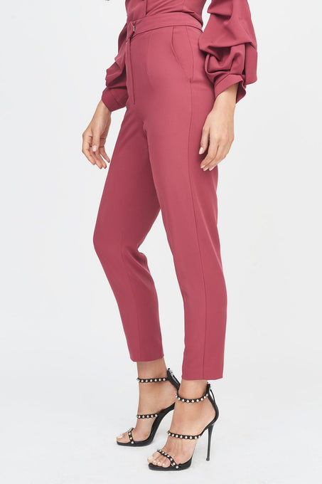 Cropped Leg Trouser in Rose
