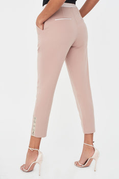 Rosie Connolly Corset Detail Mid Rise Trouser In Mink