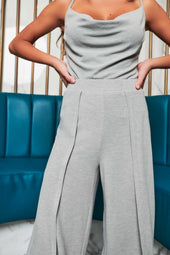Patricia Bright Double Layer Marl Knit Culottes in Grey