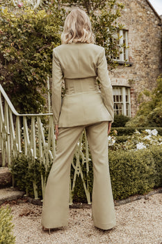Rosie Connolly Corset Style Tailored Jacket in Olive