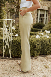 Rosie Connolly Full Length Fit And Flare Trousers in Olive