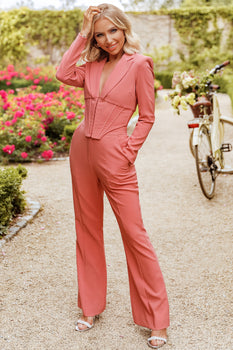 Rosie Connolly Corset Blazer in Pink