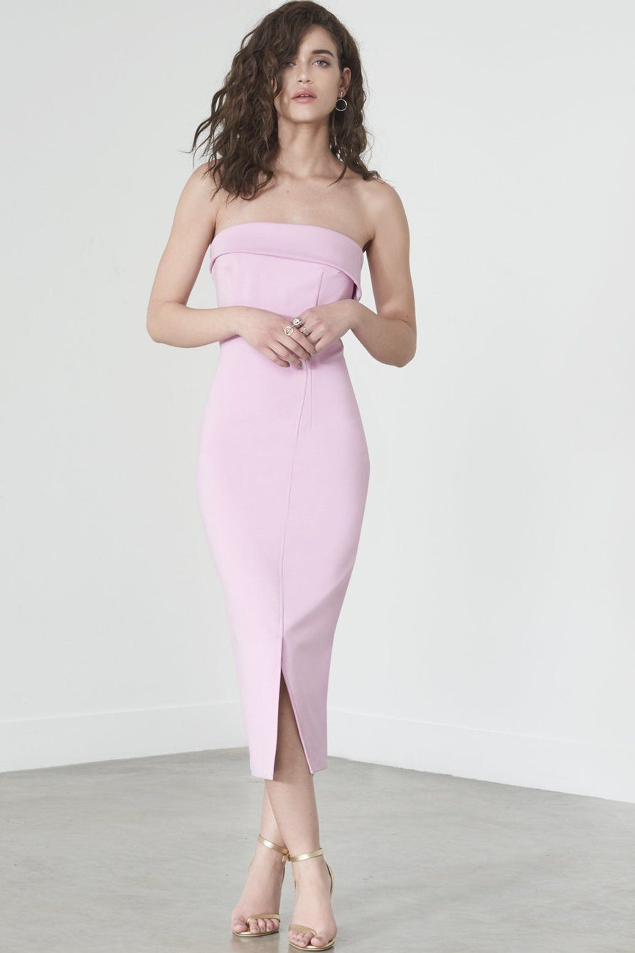 Strapless Wrap Dress in Lilac