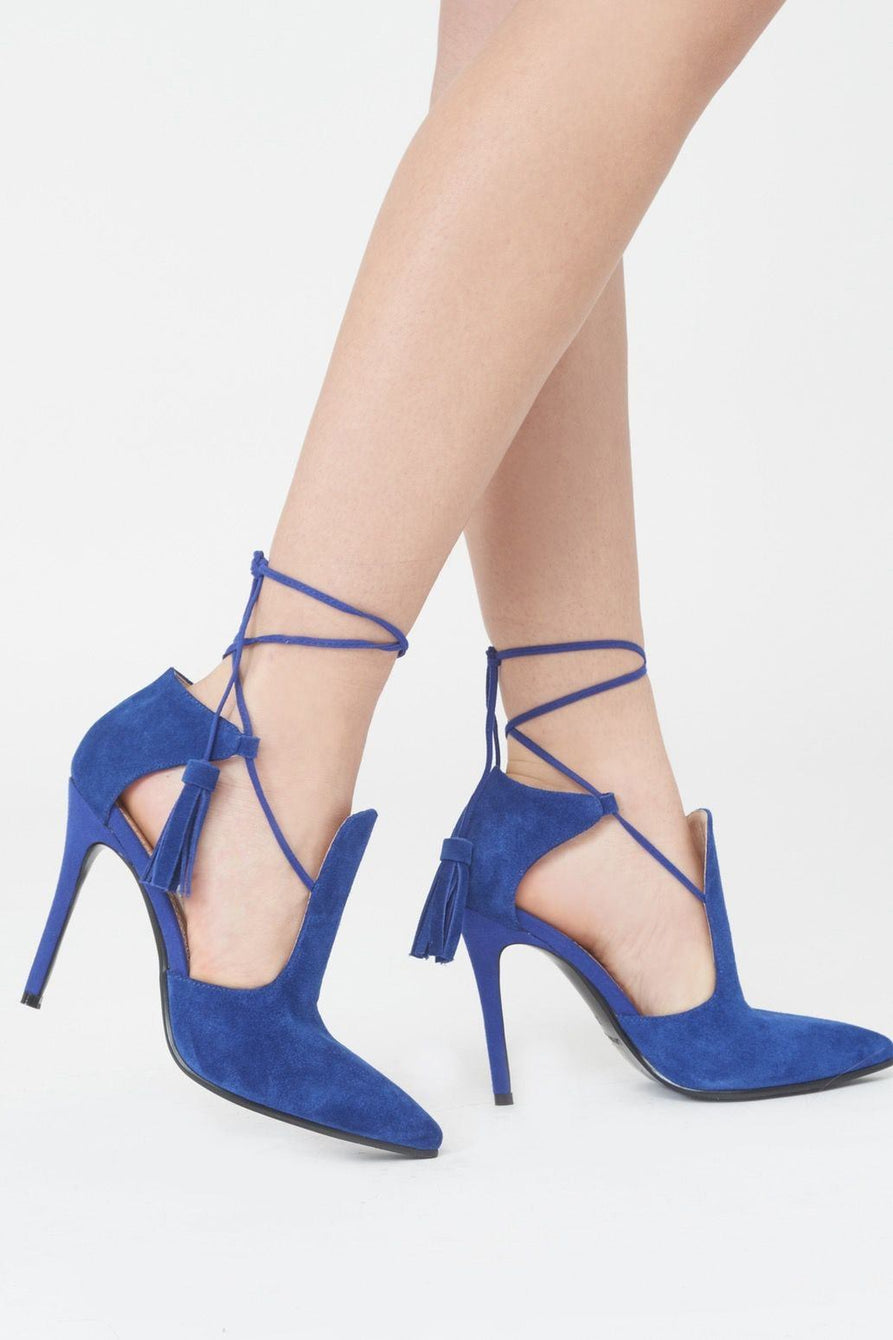 Cobalt Blue Suede Pointed Stiletto