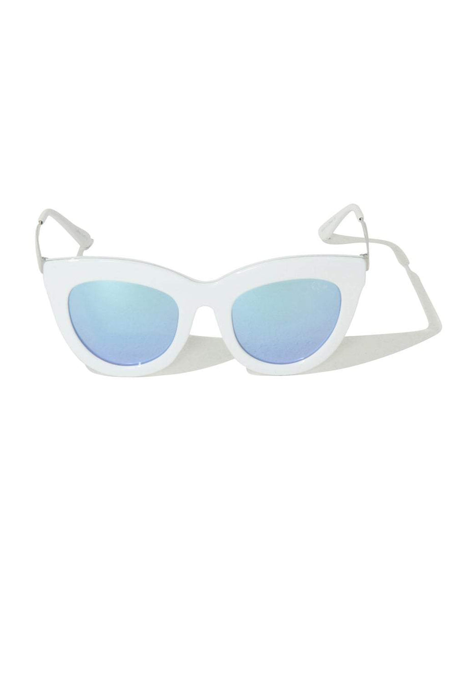 Eclipse White Cat Eye Sunglasses