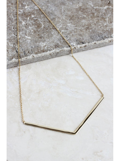 Sterling Silver Gold Plated V Necklace
