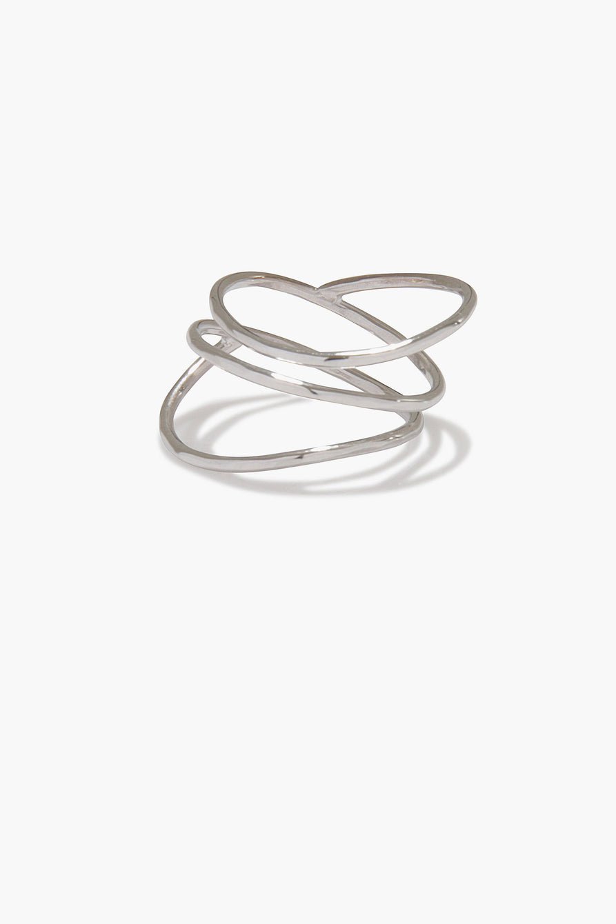 Spiral Sculpture Ring in Sterling Silver