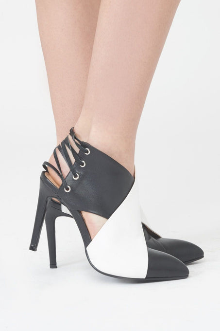 Wrap Around Stiletto with Lace Up Back