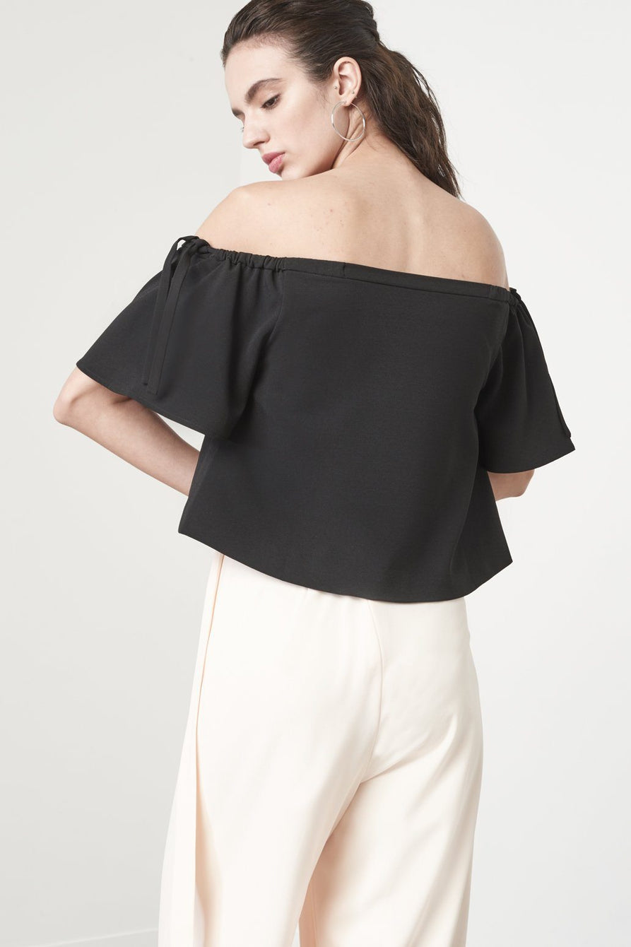 Off The Shoulder Top in Black