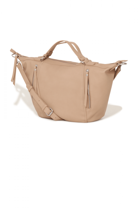 Nude Zip Detail Oversized Bag