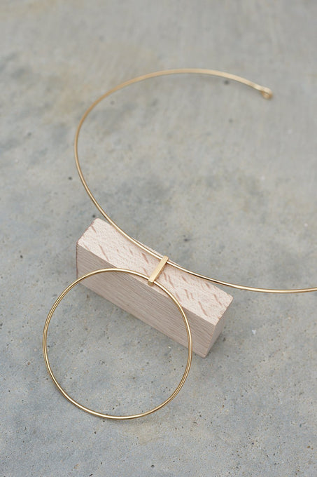 Sterling Silver Gold Plated Hoop Detail Choker