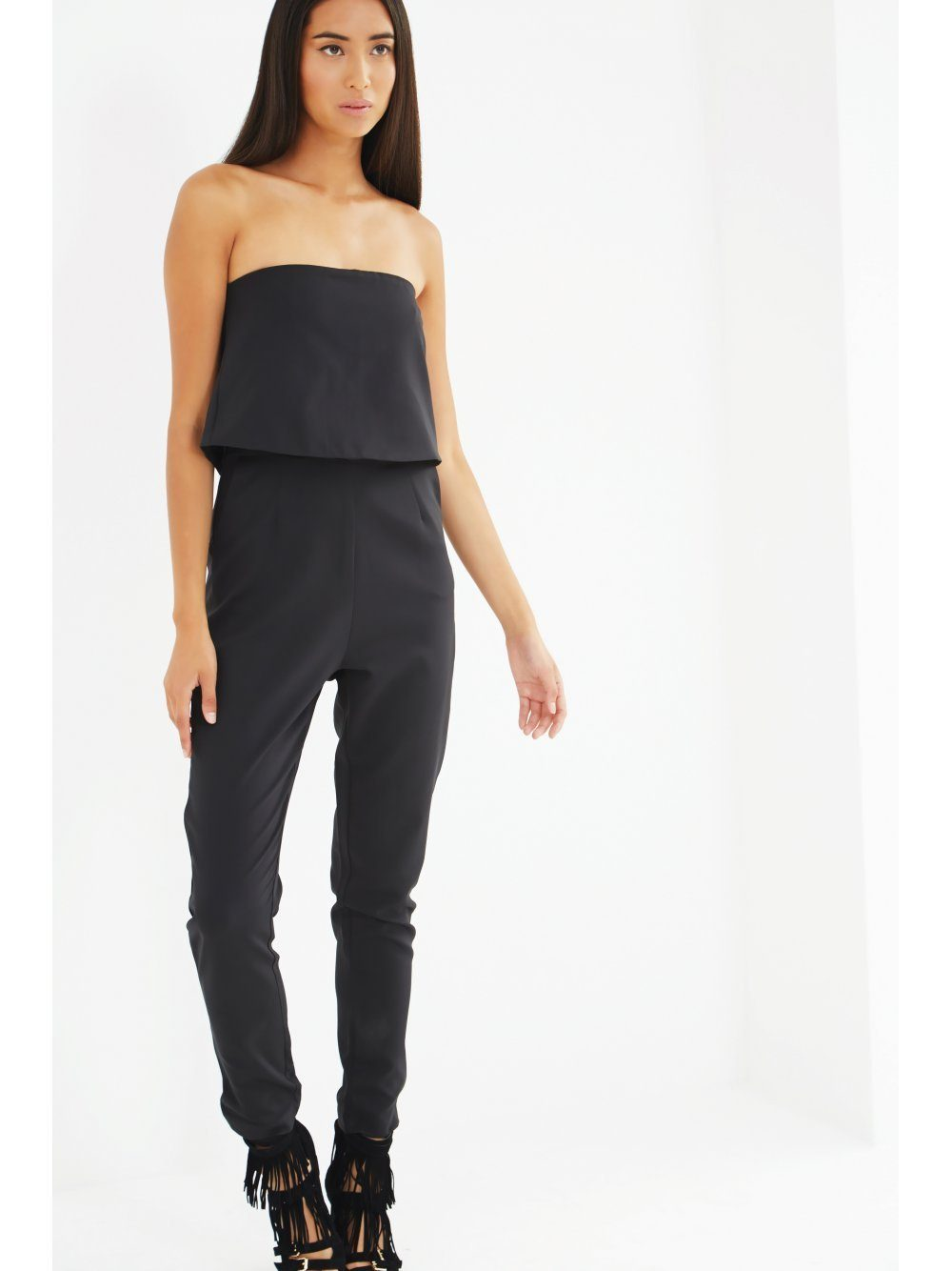 f503cbe9bfa Black Bandeau Split Back Cropped Jumpsuit – Lavish Alice