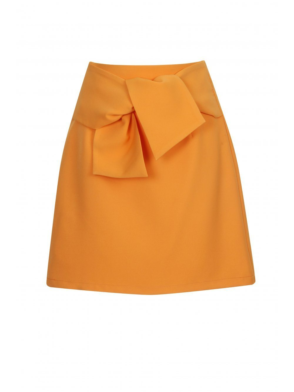 Tangerine Orange Tie Detail Mini Skirt