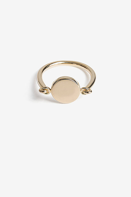 Minimal Signet Ring in Gold Plated Sterling Silver