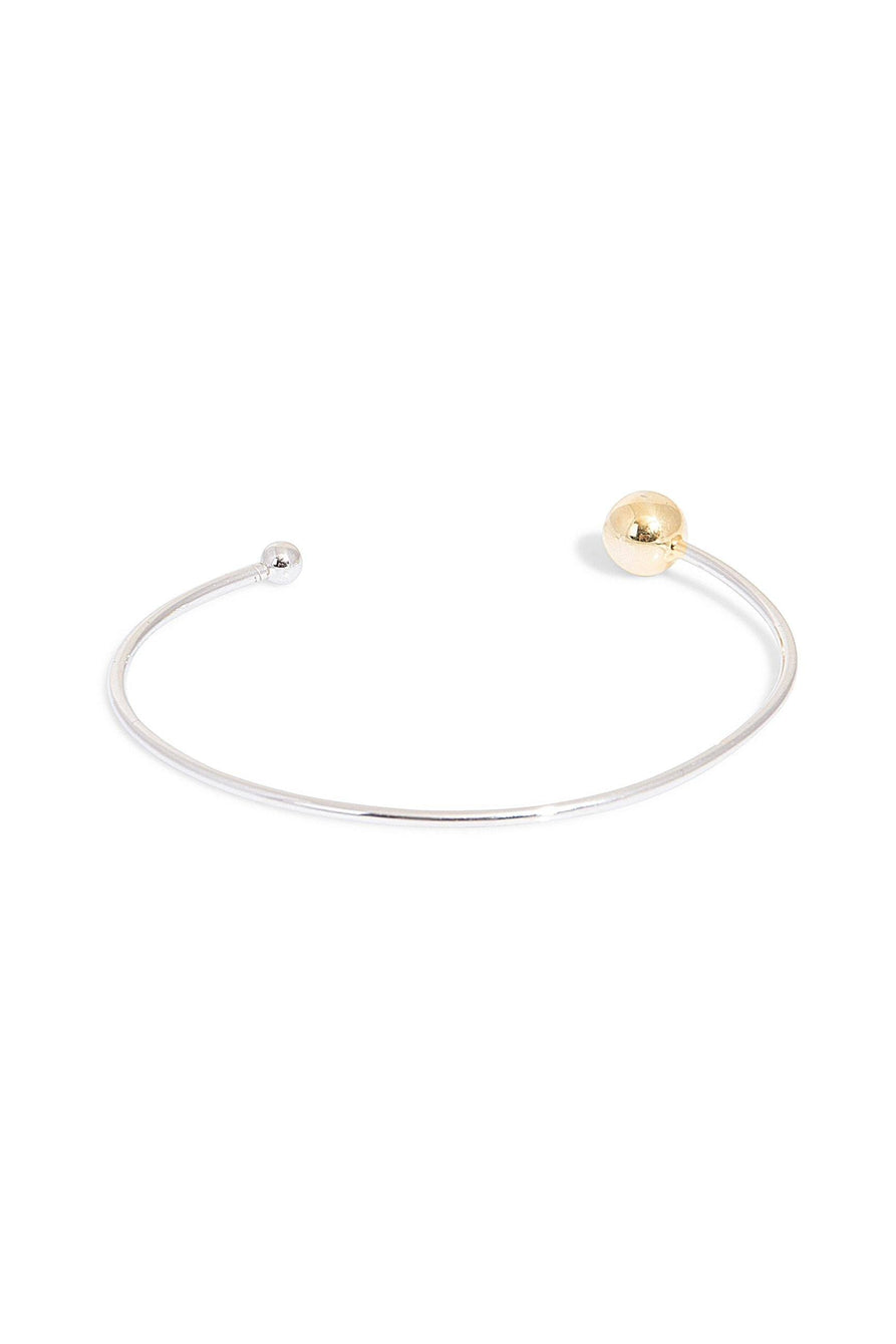 Sterling Silver Gold Plated Ball Cuff