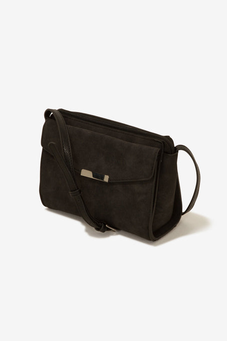 Black Hardware Detail Mini Cross Body Bag