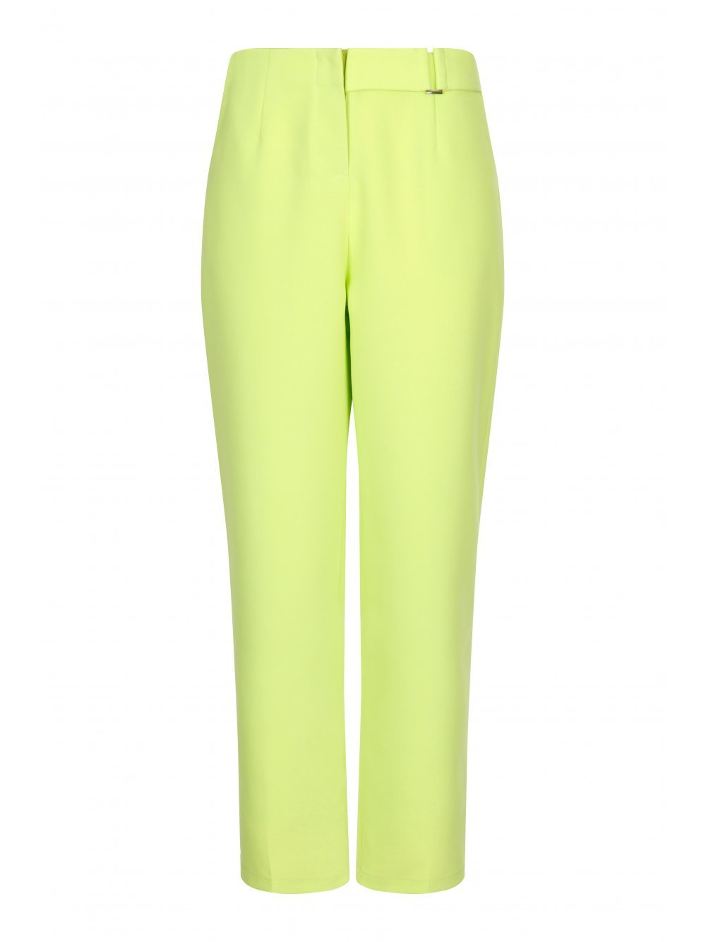 Lime Green D-Ring Peg Leg Trousers