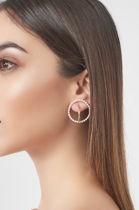 Sterling Silver Gold Plated Triple Hoop Earrings