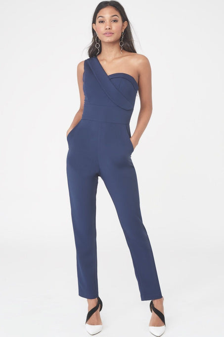 One Shoulder Bodice Jumpsuit