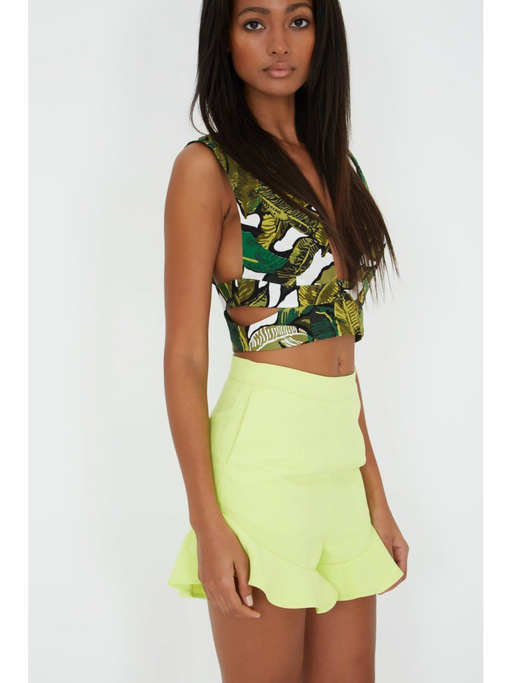 Banana Leaf Print Crop Top