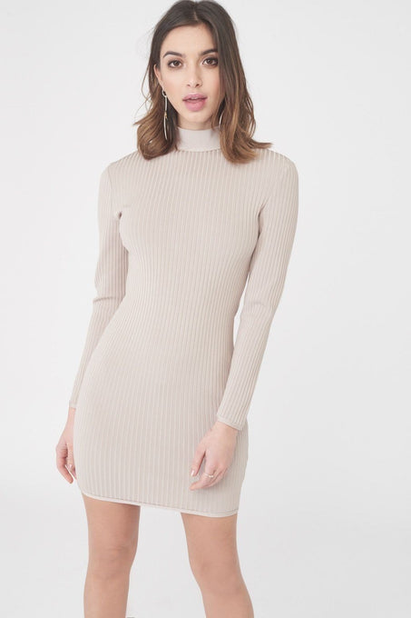 Ribbed Bandage Mini Dress