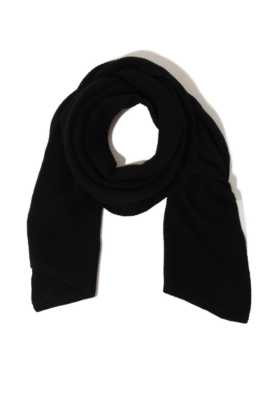 Black Textured Scarf