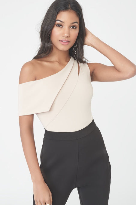 One Shoulder Cut-Out Bodysuit