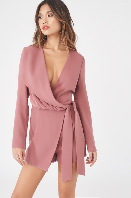 Asymmetric Fold Over Playsuit