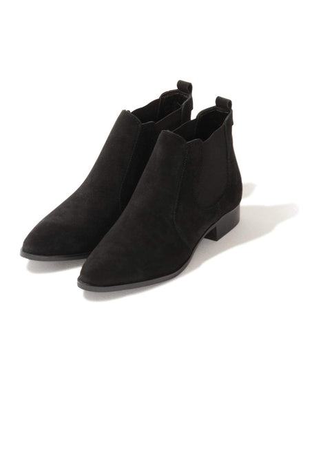 Black Suede Chelsea Ankle Boots